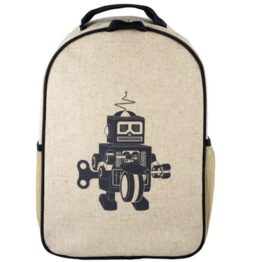 SoYoung Grey Robot Toddler Backpack