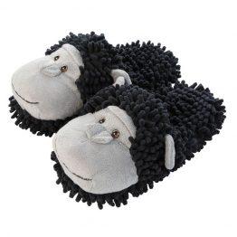 Chimpanzee fuzzy slippers