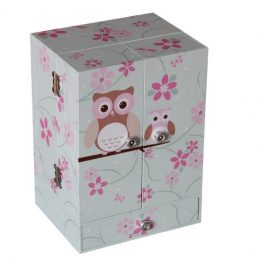 Bobble Art Owl Large Jewellery Box