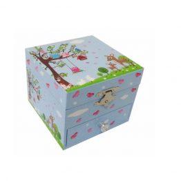 Bobble Art Woodland Large Jewellery Box