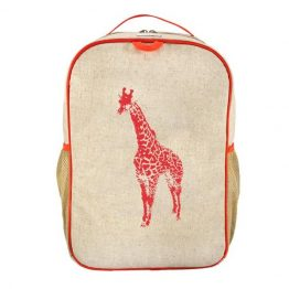 SoYoung Orange Giraffe Grade School Backpack