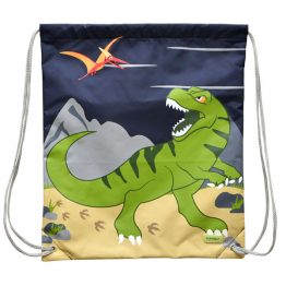 Bobble Art Drawstring Library/Swim Bag - Dinosaur