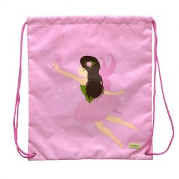 Bobble Art Drawstring Library/Swim Bag - Fairy