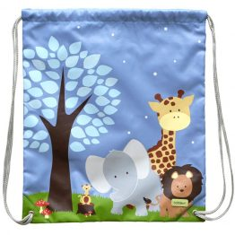 Bobble Art Drawstring Library/Swim Bag - Safari