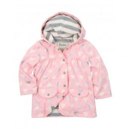 Hatley Girls Metallic Hearts Raincoat