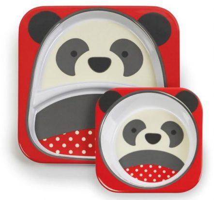 Skip Hop Zoo Melamine Bowl & Plate Set Panda