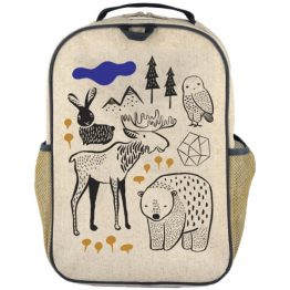 SoYoung Eco Linen Grade School Backpack Wee Gallery Nordic