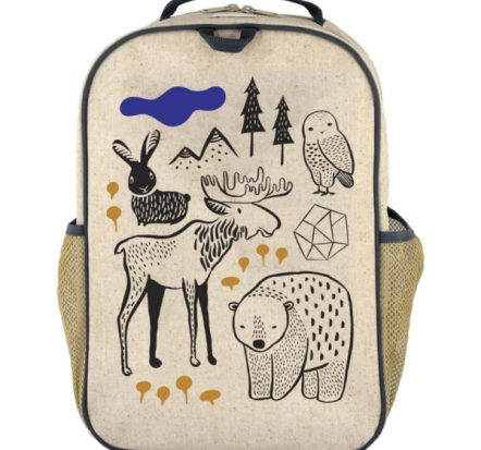 SoYoung Eco Linen Grade School Backpack Wee Gallery Nordic