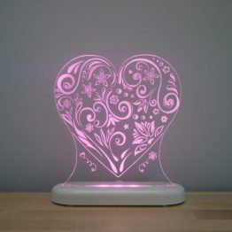 Aloka Sleepy Light USB LED Night Light Love Heart