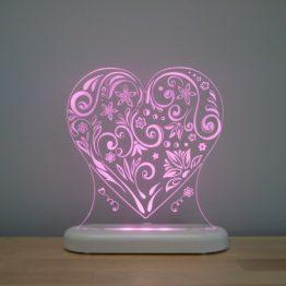 Aloka Sleepy Light USB LED Night Light Love Heart