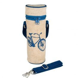 SoYoung Water Bottle Bag Blue Bicycle