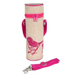 SoYoung Water Bottle Bag Pink Birds