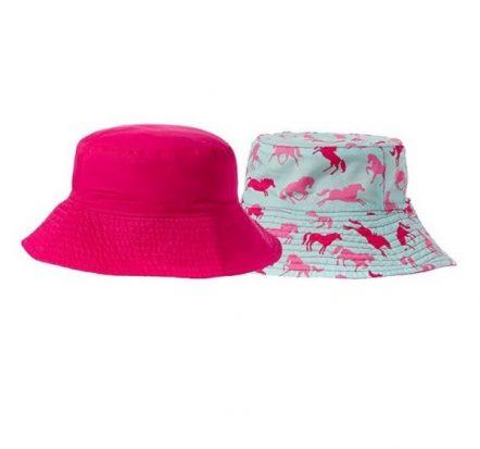 Hatley Girls Reversible Sun Hat Ponies & Polka Dots