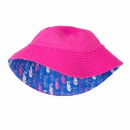 Hatley Girls Reversible Sun Hat Seahorses