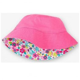 Hatley Girls Reversible Sun Hat Wallpaper Flowers
