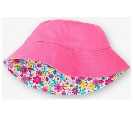 Hatley Girls Reversible Sun Hat Wallpaper Flowers