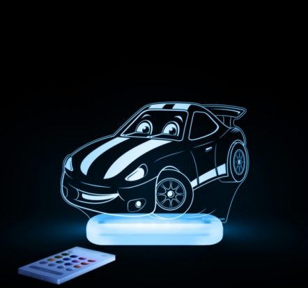 Aloka Race Car LED Sleepy Light USB Night Light with Remote