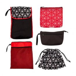 Childress 5 in 1 Nappy Bag Organiser Red Black Floral