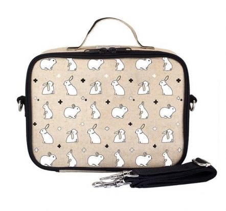 SoYoung Eco Linen Lunch Box Bunny Tile