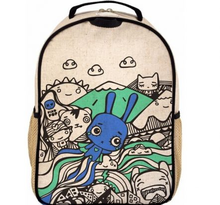 SoYoung Eco Linen Toddler Backpack Pixopop Bunny