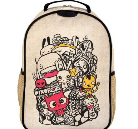 SoYoung Eco Linen Toddler Backpack Pixopop Pishi