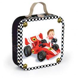 Janod Gabins Formula 1 Car Suitcase Puzzle