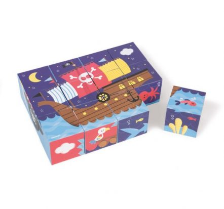 Janod Kubkid Pirates Building Blocks Puzzle