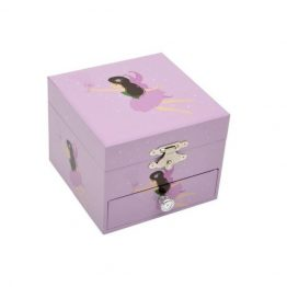 Bobble Art Square Fairy Musical Jewellery Box