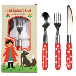 Rex London Childrens Cutlery Set Red Riding Hood