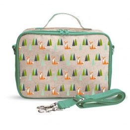 SoYoung Eco Linen Lunch Box Olive Fox