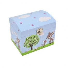 Bobble Art Woodland Musical Jewellery Box
