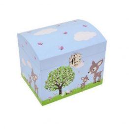 Bobble Art Woodland Musical Jewellery Box