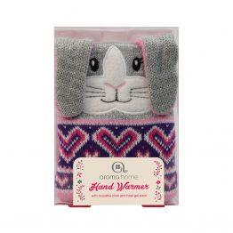 Aroma Home Single Knitted Grey Bunny Hand Warmer