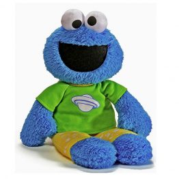 Sesame Street Cookie Monster PJ Pal Glow in The Dark Soft Toy