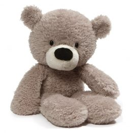 GUND Fuzzy Grey Bear Soft Toy