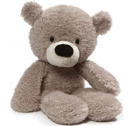 GUND Fuzzy Grey Bear Soft Toy