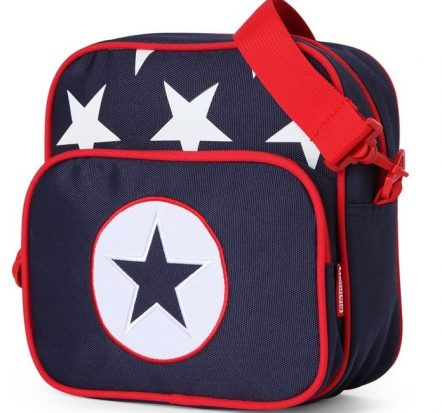 Penny Scallan Navy Star Junior Messenger Bag