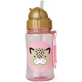 Skip Hop Leopard Drink Bottle with Straw