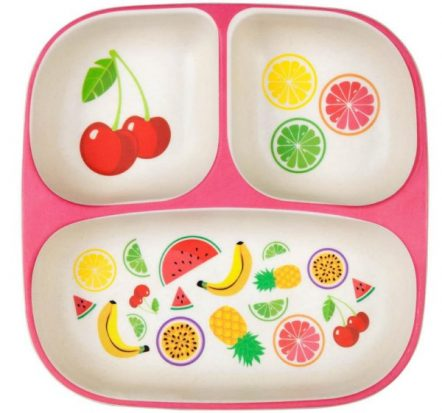 Sunnylife Fruit Salad Eco Kids Divided Plate