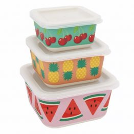 Sunnylife Fruit Salad Nesting Snack Containers