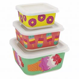 Sunnylife Sweet Tooth Nesting Snack Containers