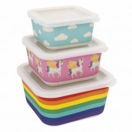 Sunnylife Wonderland Nesting Snack Containers