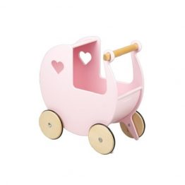 Moover Classic Light Pink Wooden Dolls Pram
