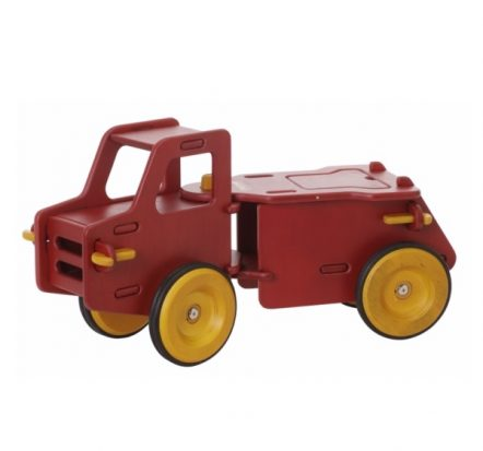 Moover Classic Red Wooden Dump Truck