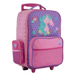 Stephen Joseph Rolling Luggage Wheelie/Trolley Bag Unicorn
