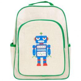 Apple & Mint Robot Big Kid Backpack