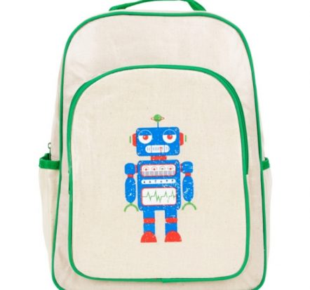 Apple & Mint Robot Big Kid Backpack