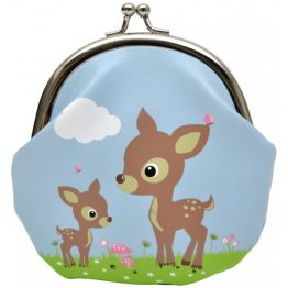 Bobble Art Woodland Animals Clip Coin Purse