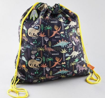 Floss & Rock Dinosaur Drawstring Kit Bag