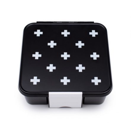 The Little Lunch Box Co Bento Three White Cross